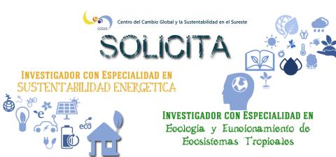 FINALIZADO – INCORPORACIÓN DE INVESTIGADORES AL CENTRO DEL CAMBIO GLOBAL Y LA SUSTENTABILIDAD EN EL SURESTE A.C.